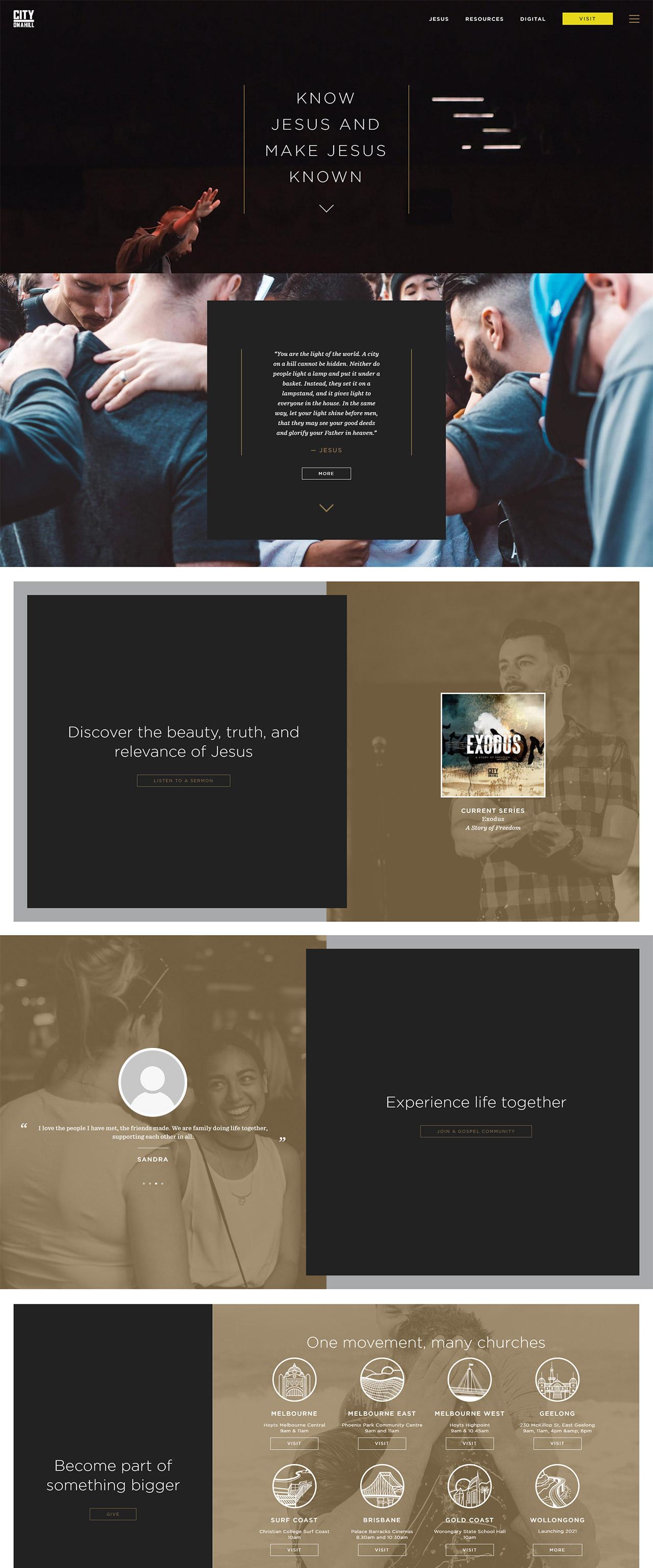 City on a Hill Website Design | Voltekka: Website Design & Digital Marketing Specialists
