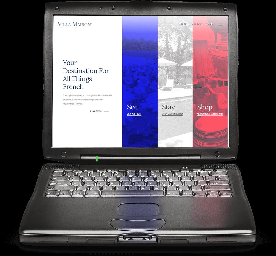 Villa Maison Website Design Banner   Voltekka: Website Design & Digital Marketing Specialists