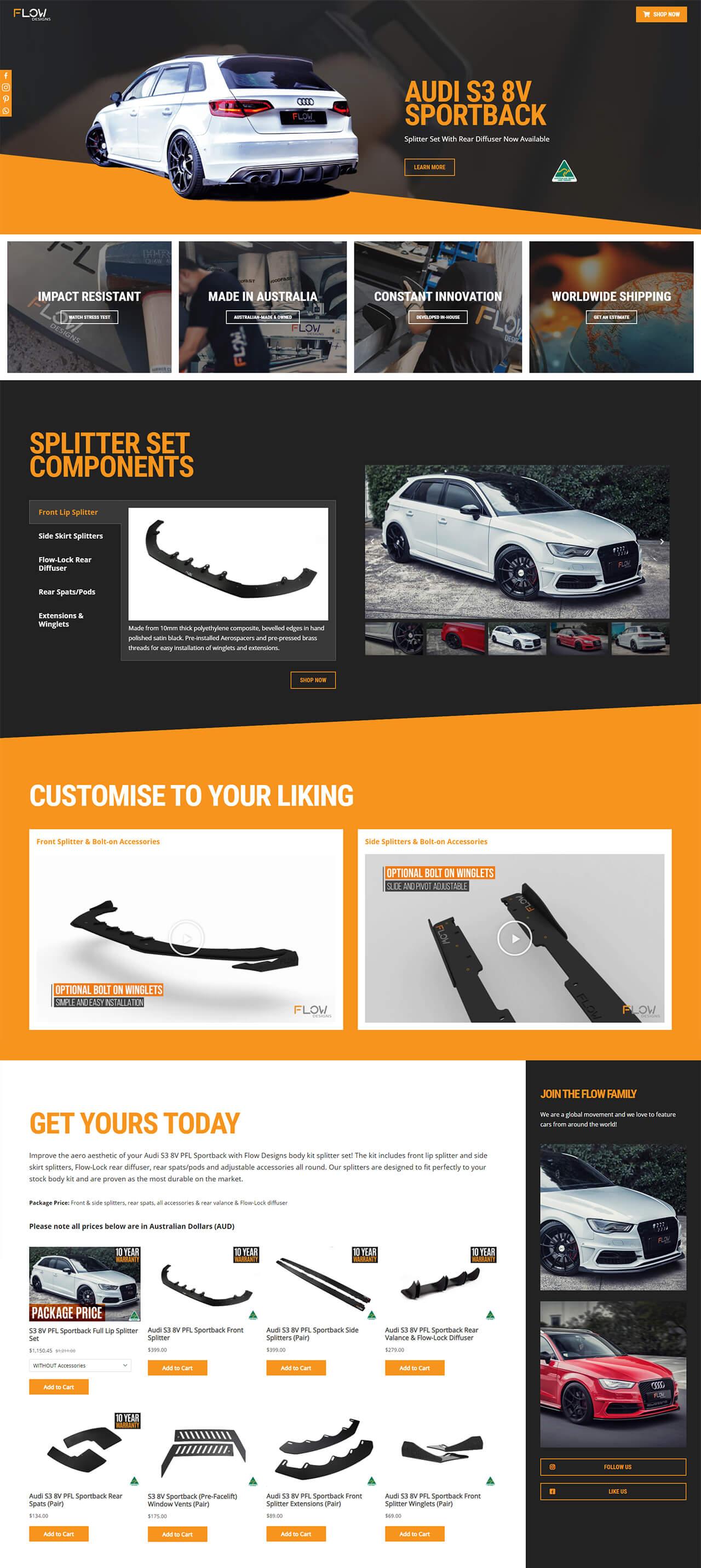 Flow Designs Landing Page Design | Voltekka: Website Design & Digital Marketing Specialists